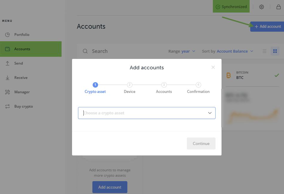 Как добавить аккаунт в Ledger Wallet.